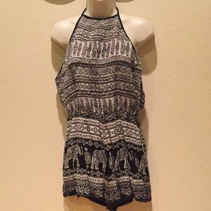 Women's backless romper by Angie Size L